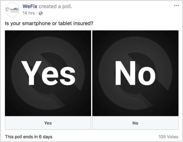 نظر سنجی در فیسبوک
