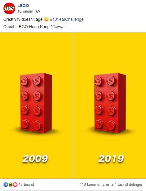 لگو چالش ده ساله