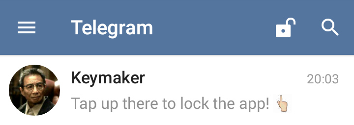 passcode قفل تلگرام