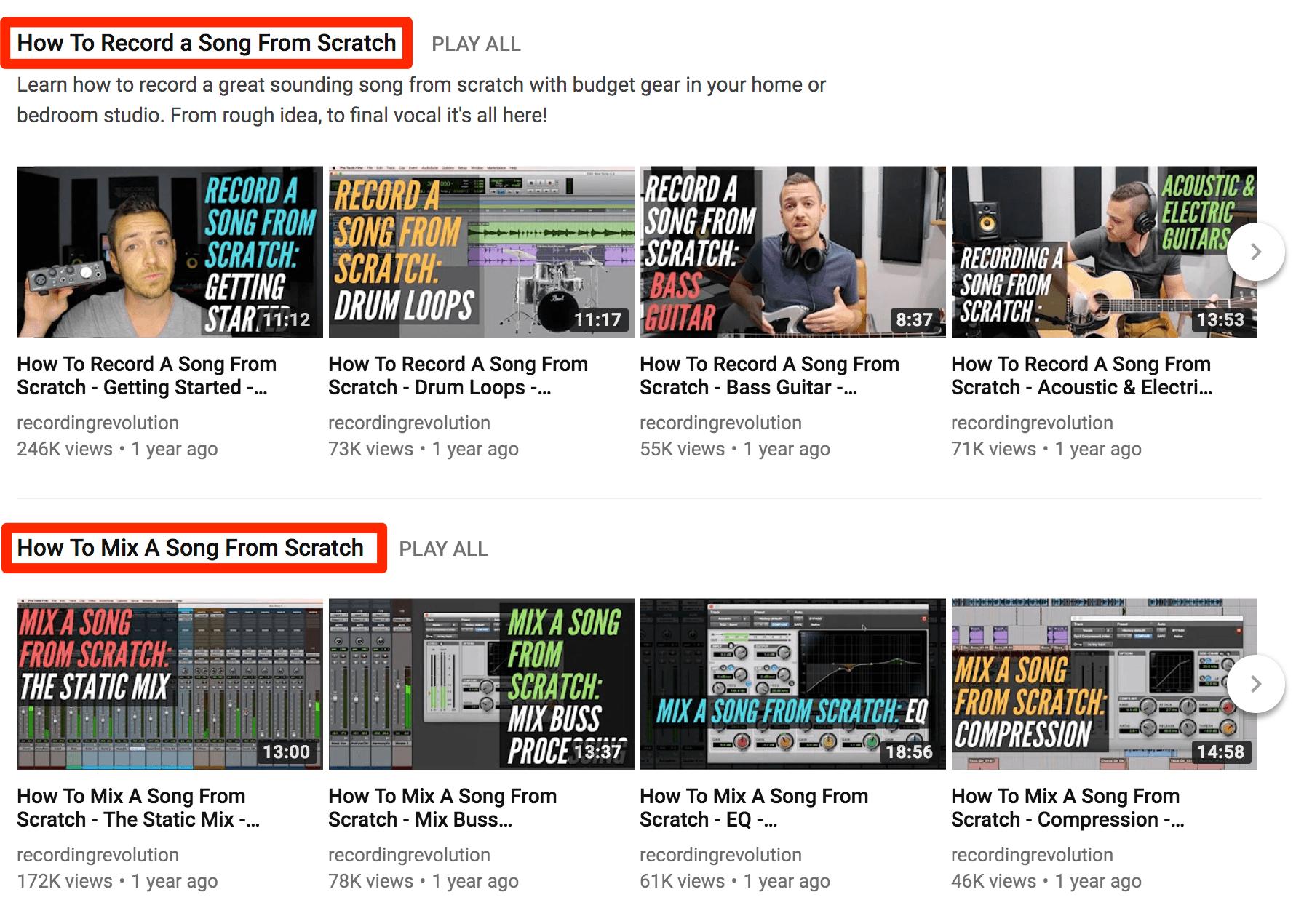 محتوای جذاب یوتیوب