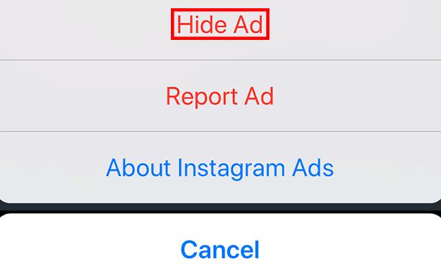 حذف تبلیغات اینستاگرام 4