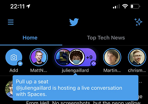 ویژگی space توییتر 2